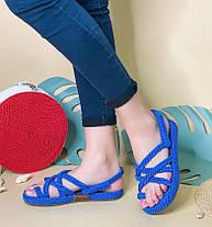 Плетеные сандалии на плоском ходу Размер 36-40, фото 3