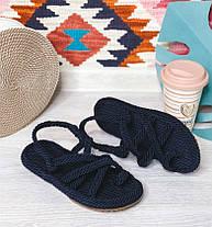 Плетеные сандалии на плоском ходу Размер 36-40, фото 2