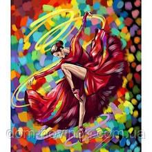 "Картина за номерами ""Балерина-яскравий танок"" ."