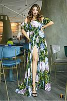 Великолепное платье макси с цветочным принтом