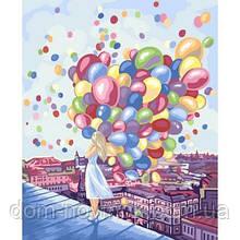 "Картина за номерами ""Дівчинка з кульками"""