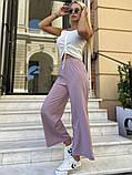 Женские брюки кюлоты, черные, оливка, пудра, фото 5