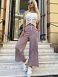 Женские брюки кюлоты, черные, оливка, пудра, фото 6