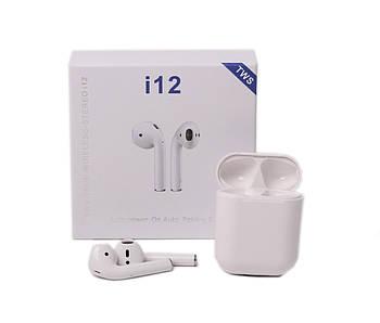 Беспроводные наушники TWS i12 5.0 Bluetooth сенсорные с магнитным кейсом для зарядки