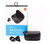 Беспроводные черные вакуумные сенсорные стерео блютуз Bluetooth наушники Xiaomi Redmi AirDots+ Plus