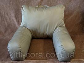 Ортопедическая подушка для чтения. Подушка - кресло. Цветная. Без наволочки.