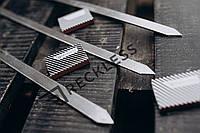 Шампур из нержавеющей стали ,плоский для Люля - кебаб 560*3*20 мм.