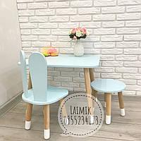 Детский столик и стул Зайка (детский стульчик, детская мебель,стульчик зайка)
