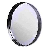 Дзеркало в стилі ЛОФТ кругле діаметр 600мм, в металевій рамі