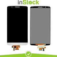 Дисплей (экран) для LG D855 G3/D858/D859 + Тачскрин / Сенсор (Модуль) белый, оригинал