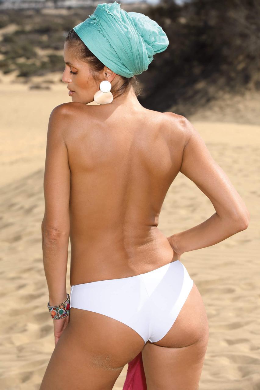 Пляжные женские плавки-бразилиана (размеры S-XL в расцветках) белый, S