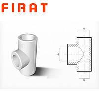 Тройник полипропиленовый редукционный Firat, 40х25х40 мм