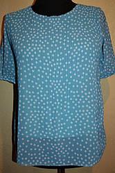 Женская блузка  в горошек    больших размеров