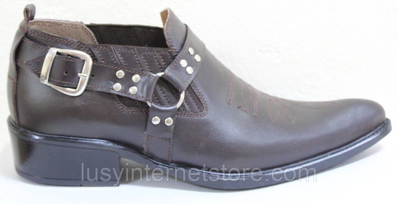 Туфли казаки кожаные мужские от производителя модель ЛЕ104-1