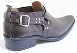 Туфли казаки кожаные мужские от производителя модель ЛЕ104-1, фото 5