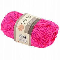 Пряжа Etamin (этамин)30гр - 180м (460 Ярко-Розовый) YarnArt, 100% акрил, Турция