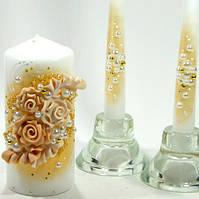 """Свадебные свечи Семейный очаг """"Золотые"""""""