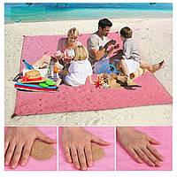 Анти песок Пляжная чудо подстилка коврик для моря Originalsize Sand Free Mat 2х2 покрывало антипесок 200*200