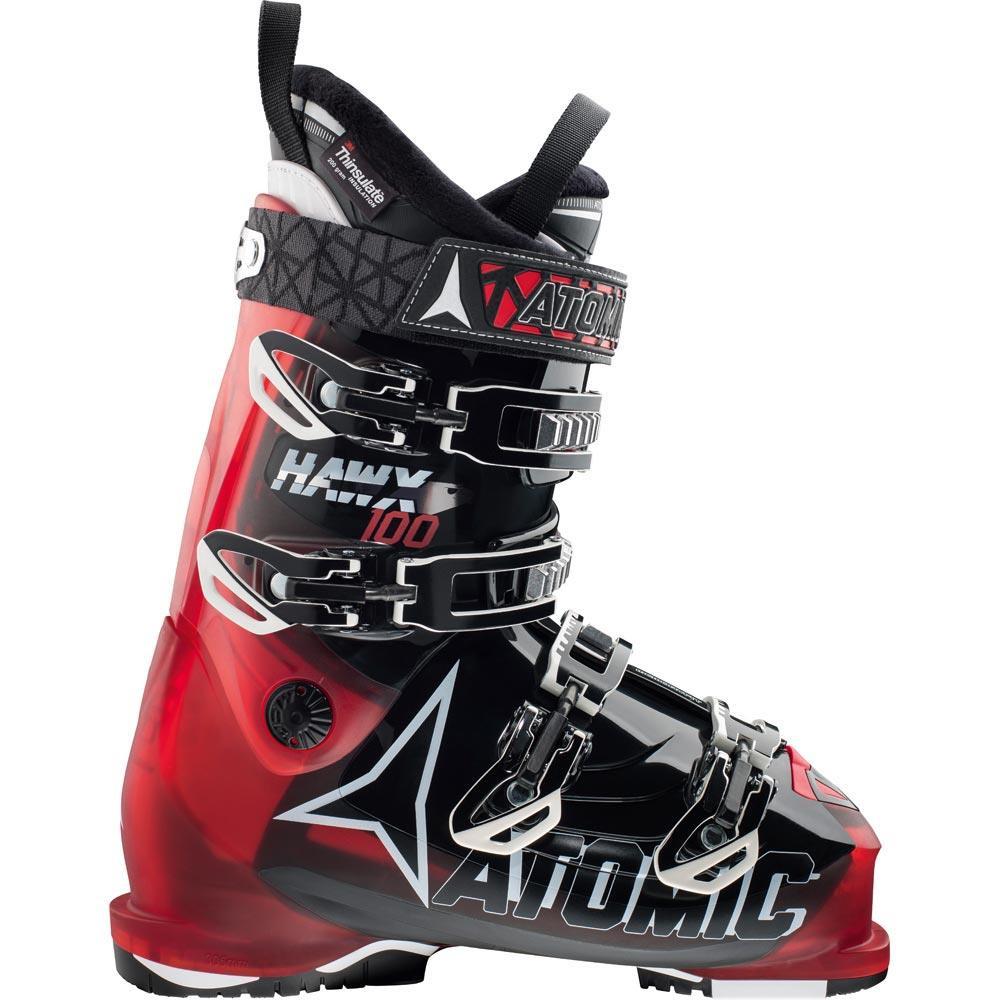 Горнолыжные ботинки Atomic HAWX 100 Transparent Red/black (MD)