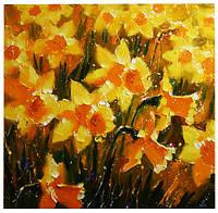 Интерьерная картина цветы Нарцисы. Купить картину для дома. Купить картину в интерьер. Интерьерные картины.