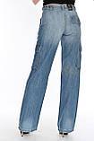 Джинсы женские Franco Benussi 1122 с накладными карманами синие, фото 2