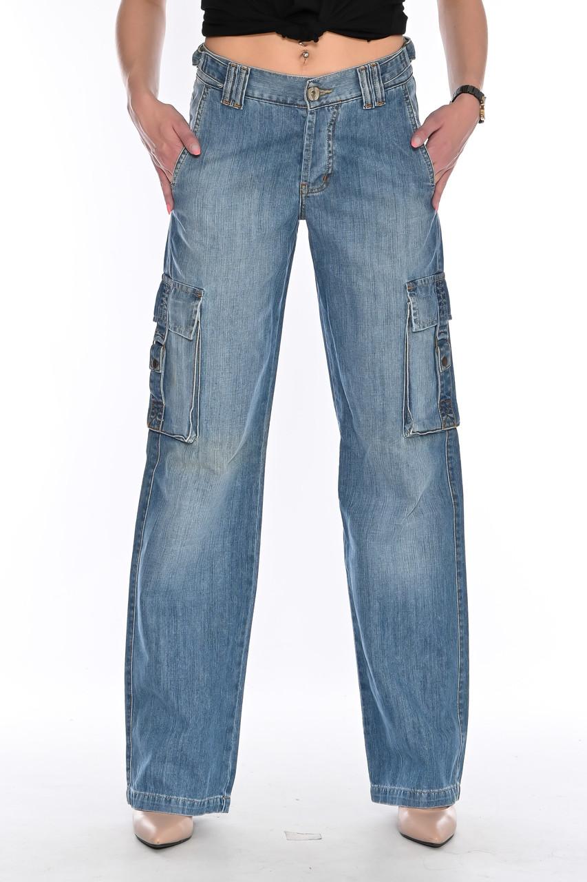Джинсы женские Franco Benussi 1122 с накладными карманами синие