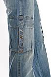 Джинсы женские Franco Benussi 1122 с накладными карманами синие, фото 6