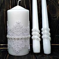 Свадебные свечи Семейный очаг Белые