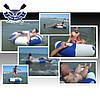 Тюбинг плюшка надувные санки ватрушка 90х30 см до 120 кг из ПВХ 850 для зимы и лета, серо-зеленый, в комплекте, фото 7