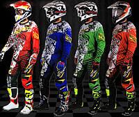 Кроссовый костюм (мотоштаны и джерси) Motoboy. В наличии зелёный ХL обхват брюк в поясе 80-82см.