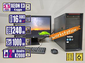 Рабочая станция Lenovo Thinkstation P300 4Gen Xeon E3-1220v3/16GB/SSD240GB+HDD1TB/k2000 2Gb 128bit, фото 2