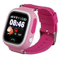 Детские умные часы-телефон с GPS трекером Baby Smart Watch Q90s Original Розовые