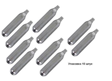 Баллончик (10 шт) CO2 SAS Extra power для пневматического оружия | 12 г |