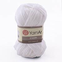 Пряжа Etamin (этамин)30гр - 180м (421 Белый) YarnArt, 100% акрил, Турция