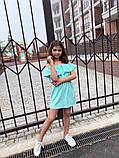 Детский сарафан с воланом на плечах 122-140см, фото 7