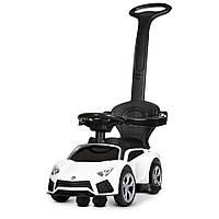 *Электромобиль (каталка-толокар) с родительской ручкой Bambi Porsche (свет фар,музыка) арт. 4316L-1