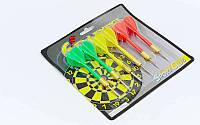 Дротики для игры в дартс каплевидные 6шт BL-6008 Baili (латунь, пластик, вес 6г)
