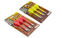 Дротики для игры в дартс цилиндрические магнитные 3шт BL-M303 (латунь, пластик, цвета в ассортименте)