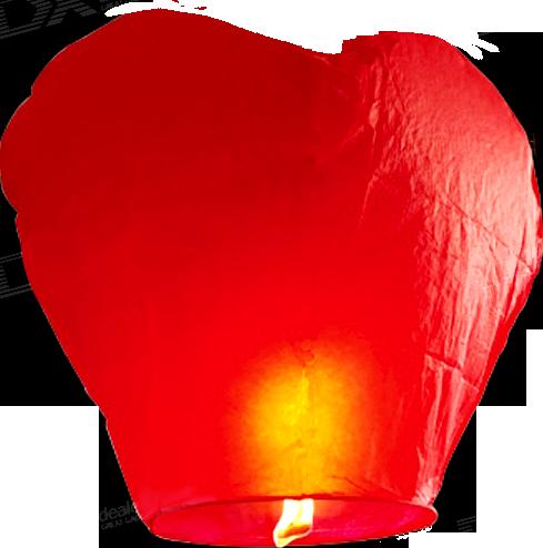 Летающие небесные Китайские фонарики 10шт сердца и купола