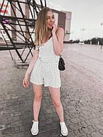 """Комбинезон-шорты женский на бретелях размеры 42-48  """"MONIKA"""" купить недорого от прямого поставщика"""