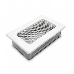 Вентиляционная решетка для камина KRATKI 11х17 см белая