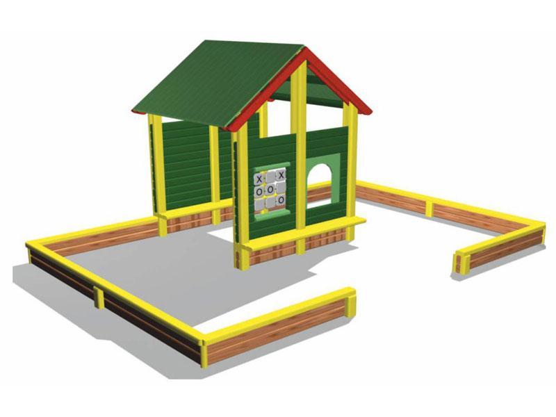 Игровая площадка песочница ХАТКА 2000х2000х1800. Колір на вибір