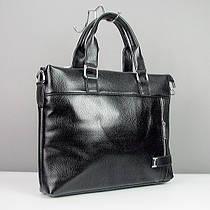 Портфель модерн кожзам черный Fashion 2032-2