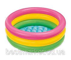 Надувний Дитячий Басейн для Плавання і Ігор Intex 61 х 22 см Круглий Басейн