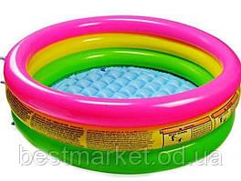 Надувний Дитячий Басейн для Плавання і Ігор Intex 86 х 25 см Круглий Басейн