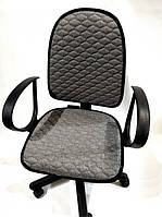 Чехол на офисное кресло серый светлый ткань 00822