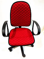 Чехол на офисное кресло красный ткань 00823