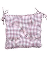 Подушка для стільця 40х40 Bella Рожева клітинка SKL58-251943