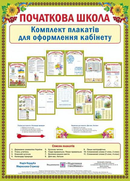 Початкова школа. Комплект плакатів для оформлення кабінету