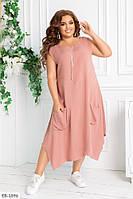 Женское свободное летнее платье, большой размер!